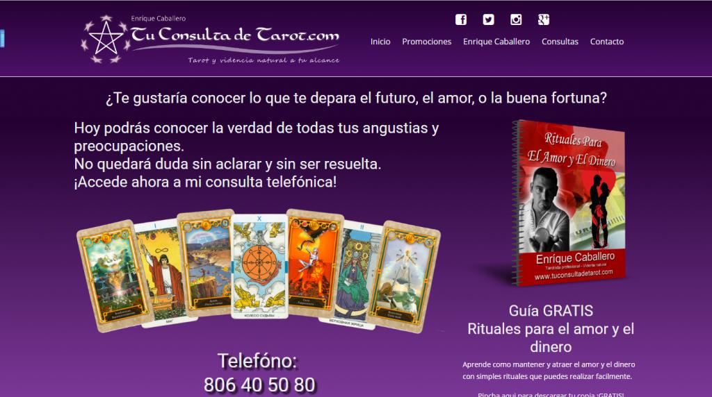diseño web en madrid , tuconsultadetarot.com